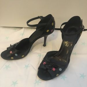 Via Spiga - Multi-Colored Polka Dot Leather Heel